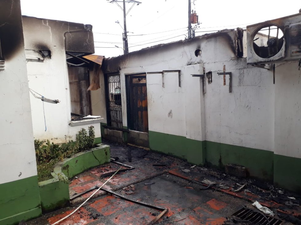 INCENDIO ALCALDÌA NECHÌ ASI QUEDÓ: Así quedó el palacio municipal de Nechí, después de los disturbios