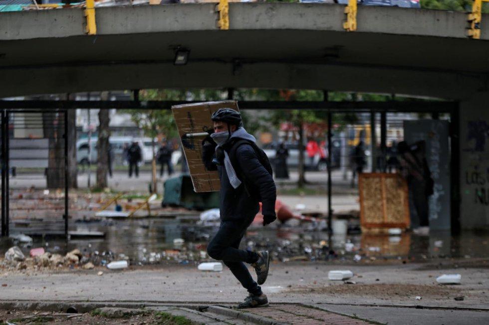 Marchas de universitarios en Bogotá: Tras fracaso de diálogo, alcaldesa López tuvo que enviar al Esmad