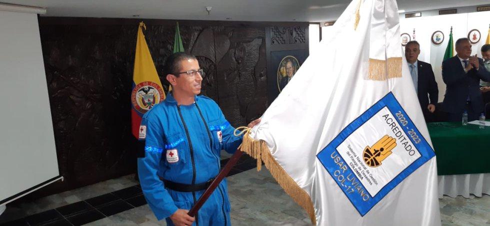 Rusbel Edison Camarillo, líder del grupo certificado de búsqueda y rescate