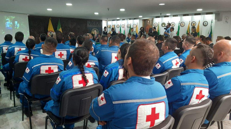 29 voluntarios de la Cruz Roja Quindío certificados en búsqueda y rescate