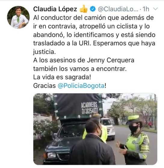 Captura conductor en Bogotá: Capturan al responsable de atropellar a un motociclista y escapar