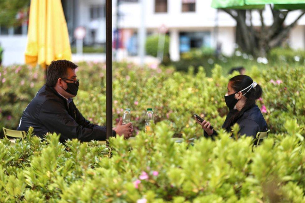 Reapertura restaurantes Bogotá: Fotos: así se vivió Bogotá a cielo abierto
