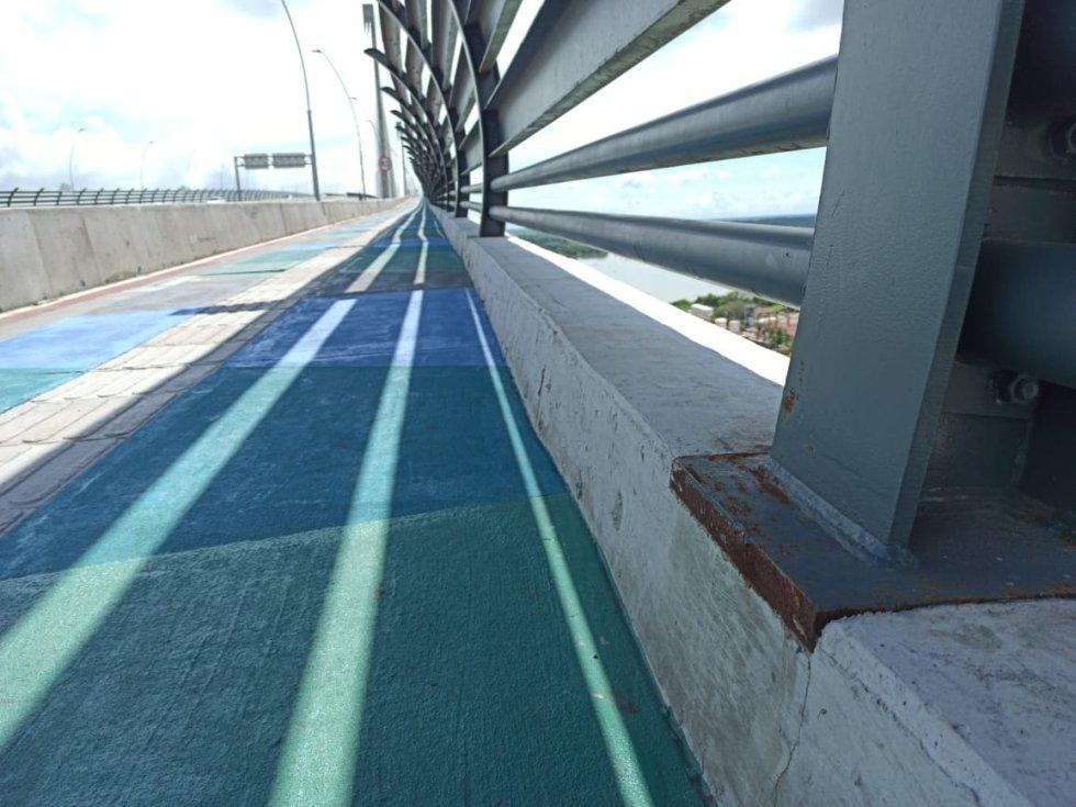 La constructora Sacyr aseguró que evaluará la aparición de óxido en elementos del puente