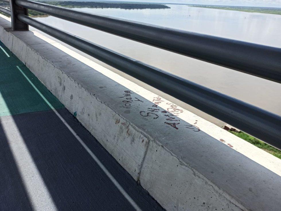 El puente tiene cerca de 8 meses de haber sido inaugurado con una inversión de 750 mil millones de pesos