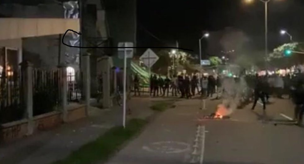 Bloqueos de la avenida Bolívar al norte de la ciudad