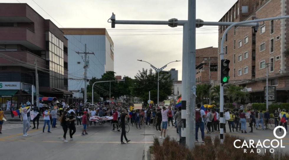 Vandalismo Barranquilla: Imágenes de la protesta en Barranquilla