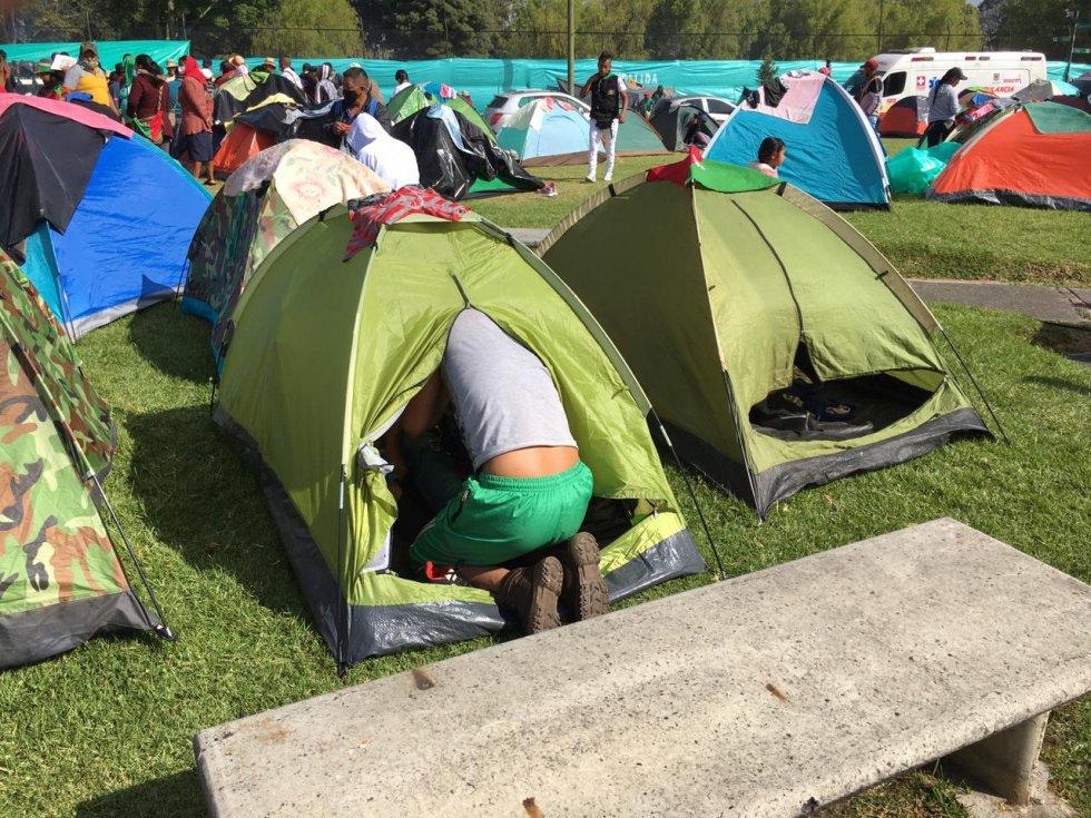 Mínga Indígena en Bogotá: Así viven 7 mil indígenas en el palacio de los deportes de Bogotá