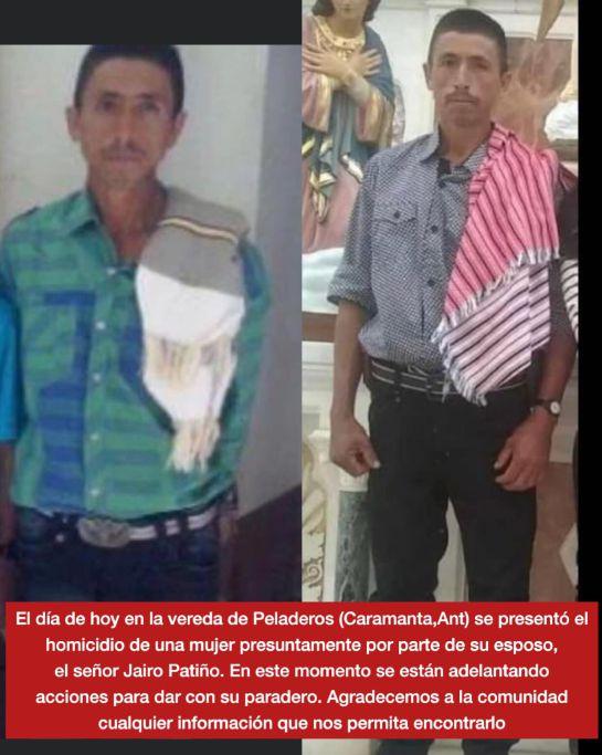 Feminicidio en Caramanta, hombre asesinó a su esposa con un machete: Un hombre asesinó con un machete a su esposa en Caramanta, Antioquia