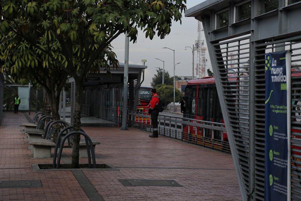Así luce Bogotá en cuarentena, nuevamente.