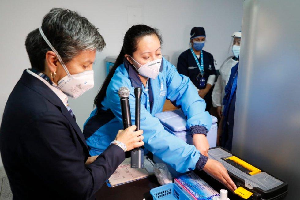 Simulacro vacunación en Bogotá COVID-19