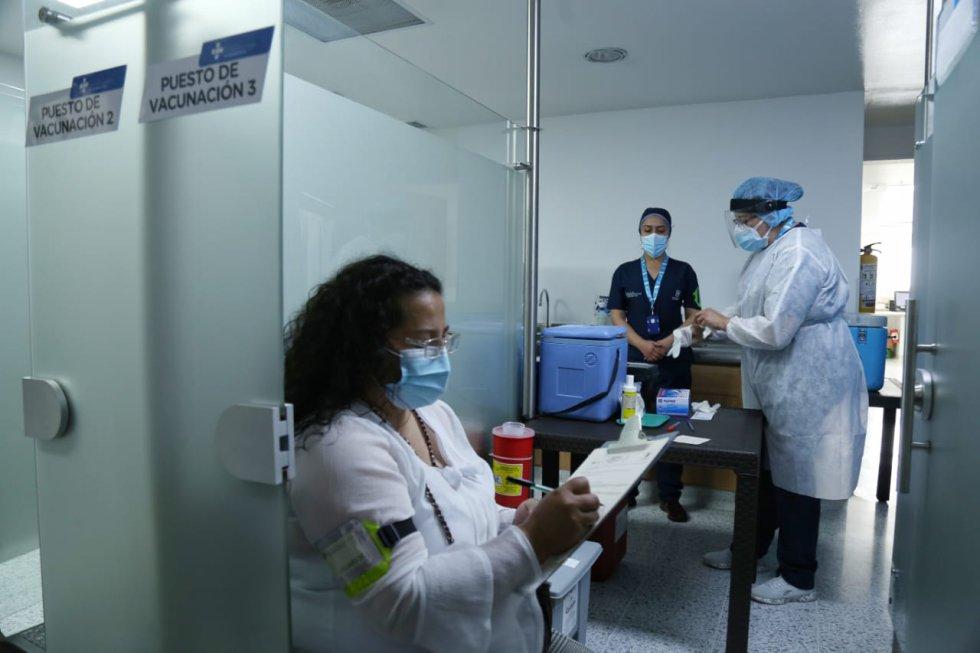 Simulacro vacunación COVID-19 Bogotá