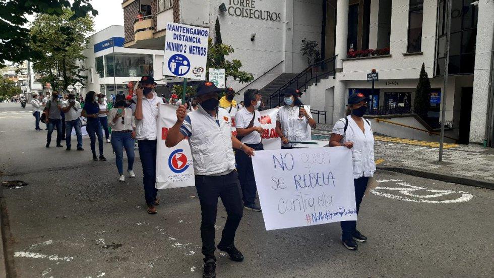 Los mensajes y la bioseguridad en las marchas
