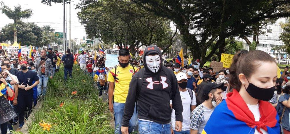 Las máscaras  otro referente en la movilización en Armenia