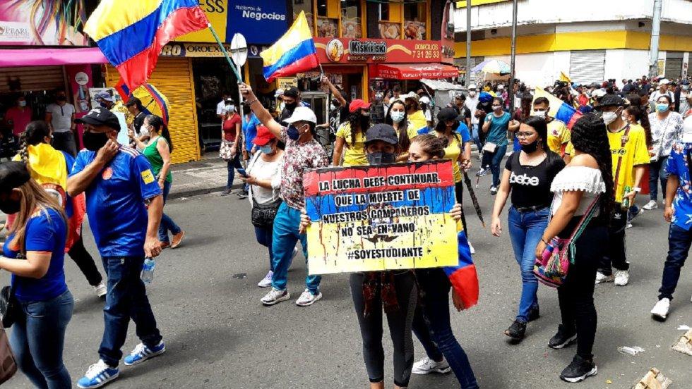 Los estudiantes y el rechazo a la violencia en la marchas