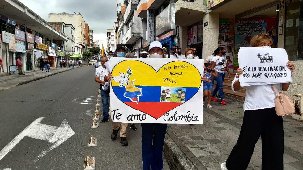 Los carteles con los mensajes alusivos a la paz