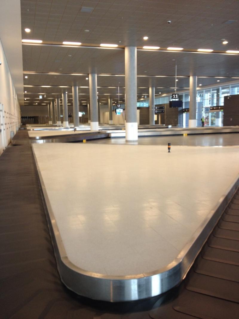 La nueva sala de entrega de maletas, con siete bandas de equipaje. Foto: Caracol Radio.