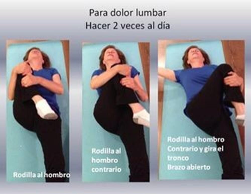 Si usted padece de dolor lumbar, solo necesita realizar ejercicios 2 veces al día para corregir este problema.