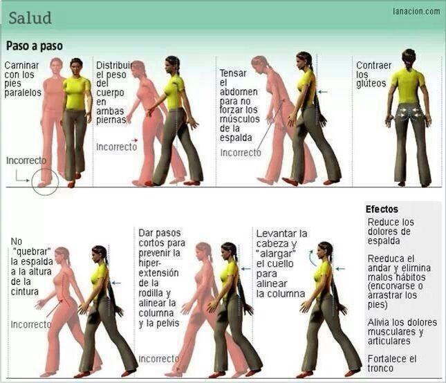 A la hora de caminar, tenga en cuenta estas recomendaciones para que su cuerpo esté siempre saludable.