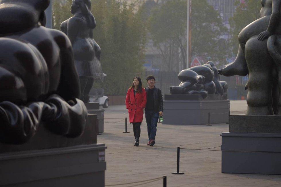 [En fotos] Fernando Botero inaugura la primera exposición en China
