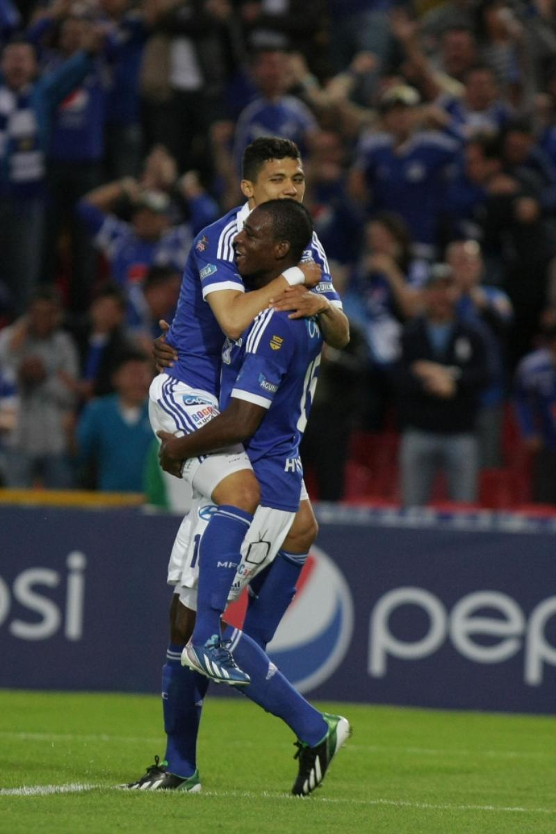 Erik Moreno celebra su gol. Foto: COLPRENSA ©