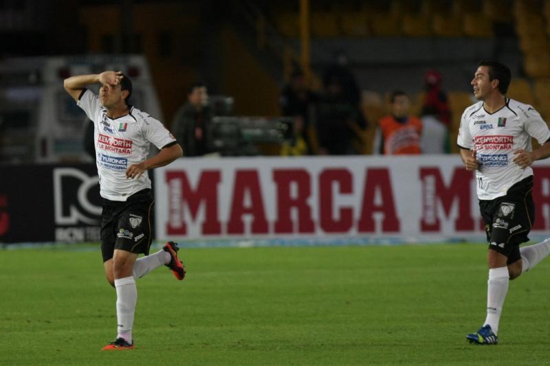 Jamell Ramos marca el primer gol de su equipo. Foto: COLPRENSA ©