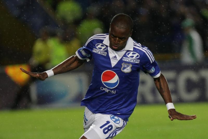 Wason Rentería celebra efusivamente su gol. Foto: COLPRENSA ©