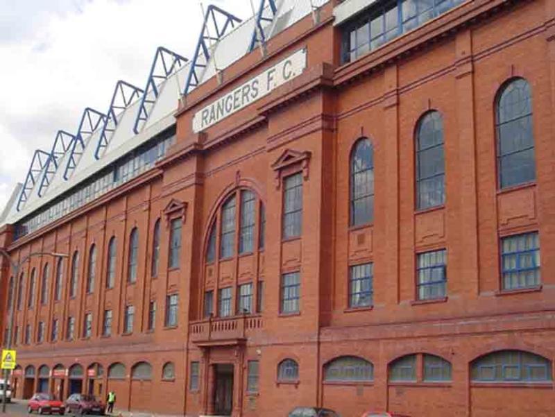 Rangers Stadium, sede del Rangers F.C., en Glasgow.