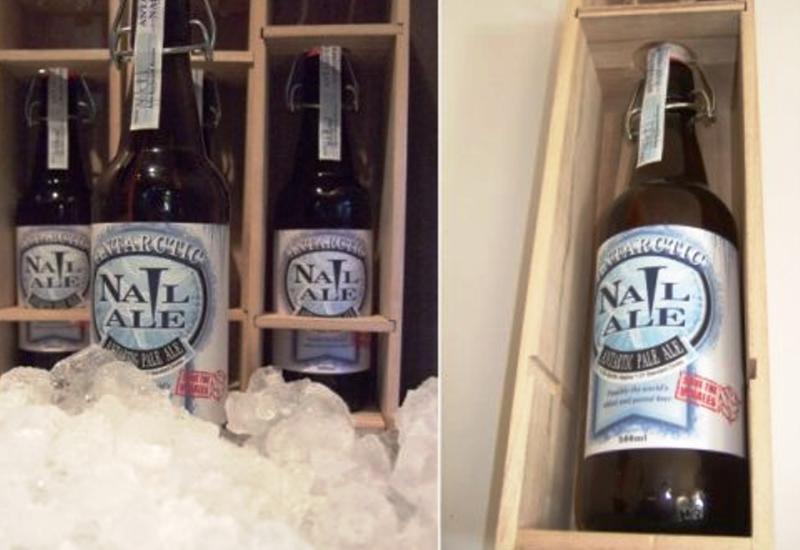 Nail Brewing Antarctic Nail Ale: Hecha con agua extraída de un iceberg en la Antártida. Solo crearon 30 botellas que se venden por los primeros. Precio: $1.600.000 por botella.
