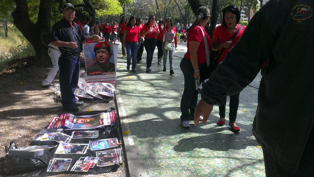 Numerosa movilización se lleva a cabo en Caracas en conmemoración a muerte del comandante y expresidente Hugo Chávez.