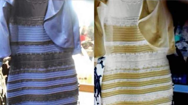 Explicacion foto vestido azul y negro