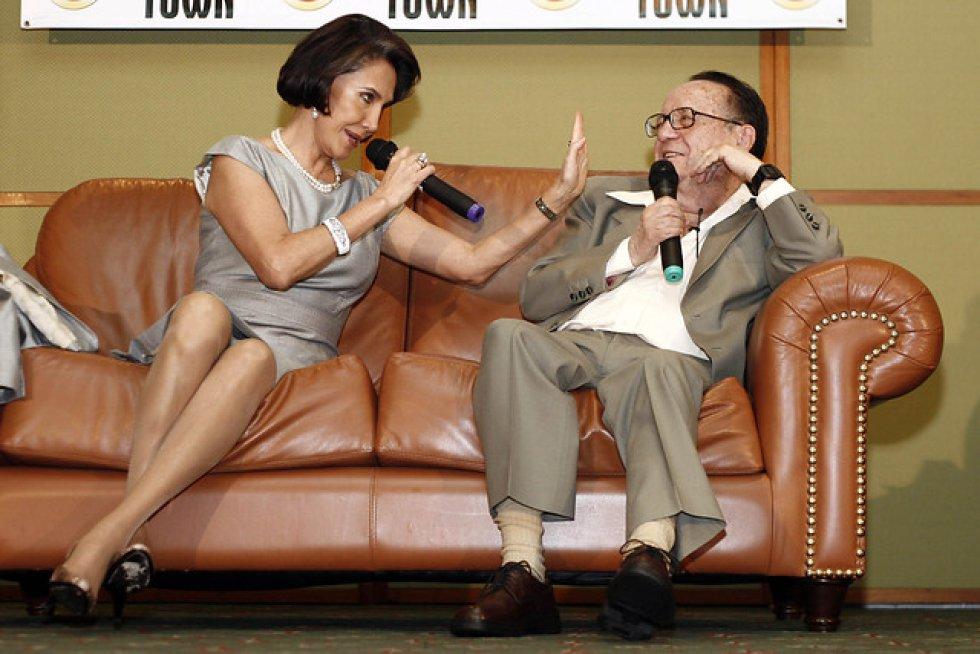 Roberto Gomez Bolaños y su esposa Florinda Mesa, en el Hotel Tequendama (Colombia) en Junio del 2009.