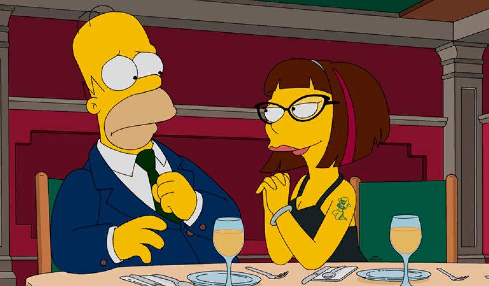 'Los Simpson' estrenarán cuatro episodios consecutivos de la famosa serie el domingo 10 de abril en donde Homero Simpson conoce a una joven que pondrá en duda su fidelidad con Marge.