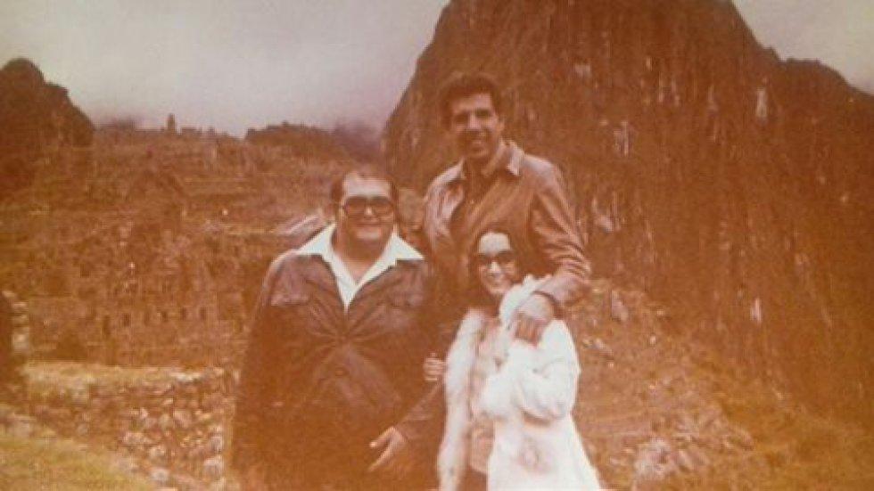Édgar Vivar, Rubén Aguirre y María Antonieta de las Nieves en Perú.