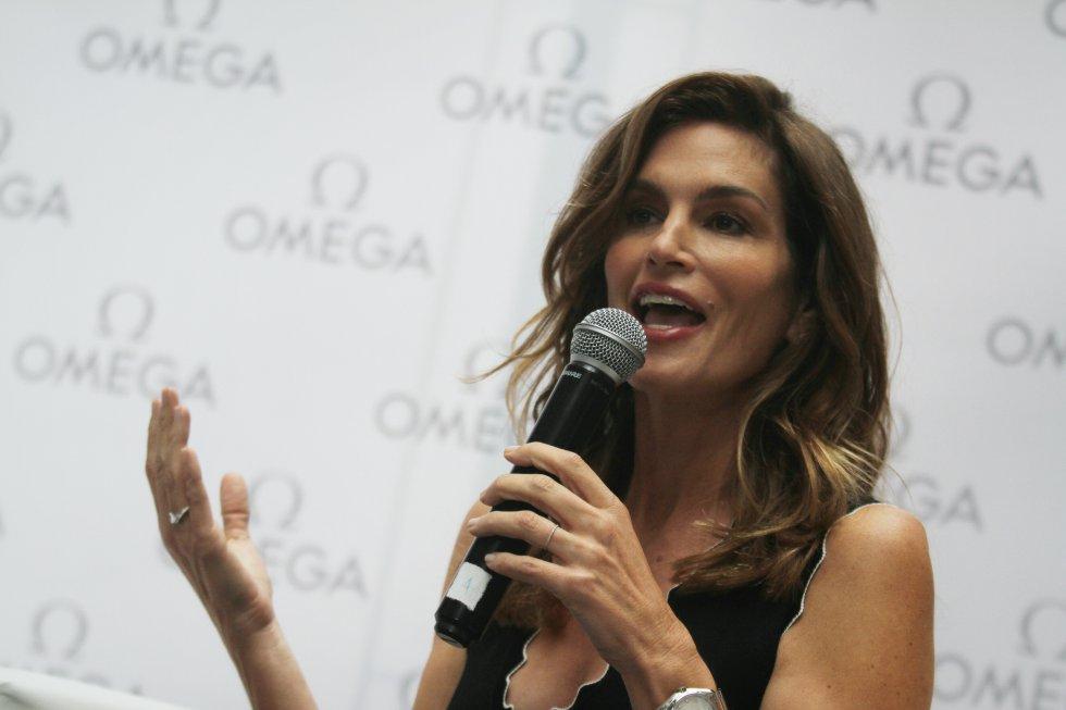Crawford vino a Colombia como parte de los planes de la marca de relojes Omega para el lanzamiento de su nueva colección.