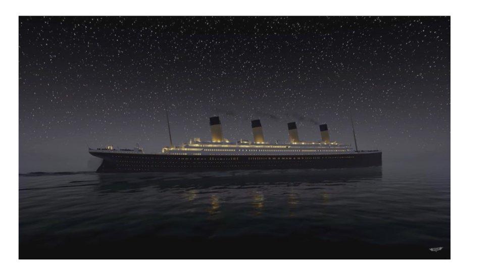 Desarrolladores de videojuegos recrearon el hundimiento del Titanic
