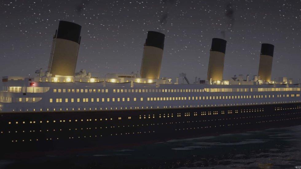 En el video se aprecia en tiempo real los efectos del choque y hundimiento paulatino del barco