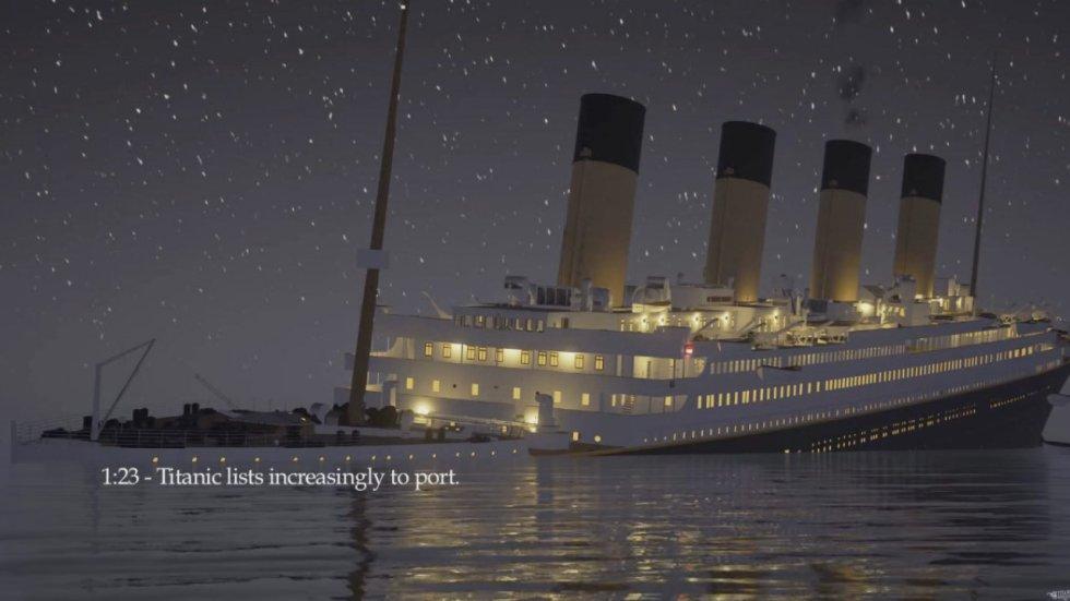 En lo corrido del video también se muestran etiquetas que permiten entender el proceso que se iba viviendo en el barco.