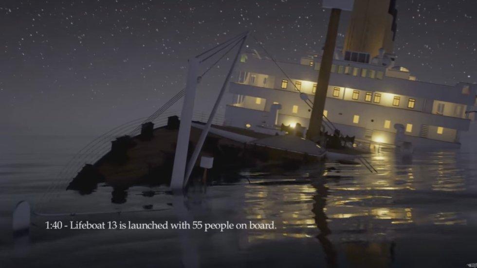 Dos horas y cuarenta minutos dura el video que recrea todos los pormenores del hundimiento