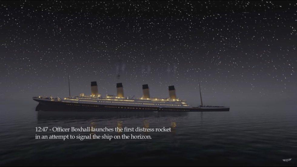 El video permite entender las acciones efectuadas por la tripulación durante el hundimiento gracias a una serie de etiquetas que describen los momentos claves.