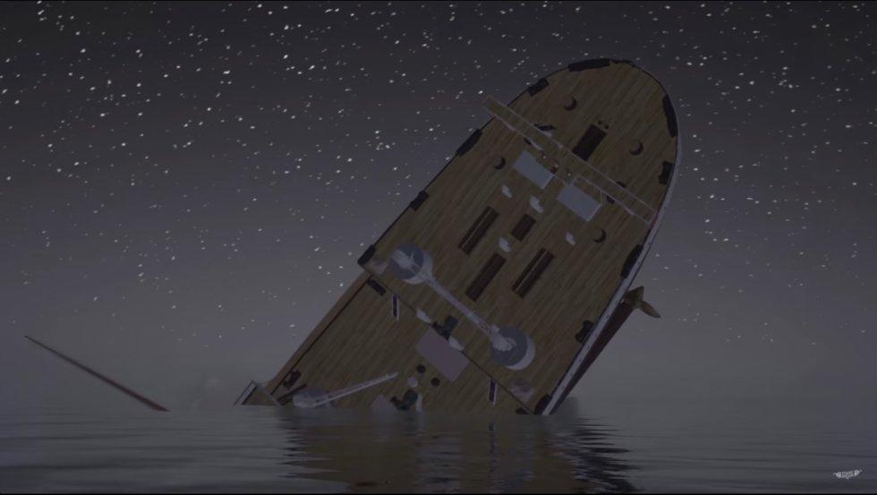 Fuera del video que emula el hundimiento, los desarrolladores también presentan un interesante videjuego que permite recorrer el barco.