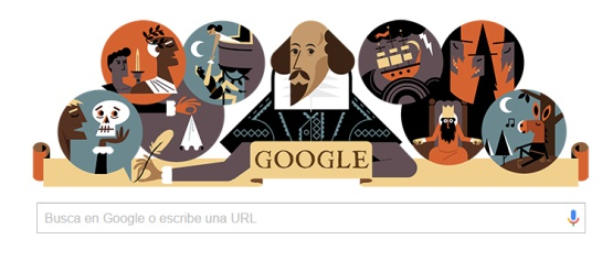 400 años de la muerte de William Shakespeare: Google conmemora a William Shakespeare
