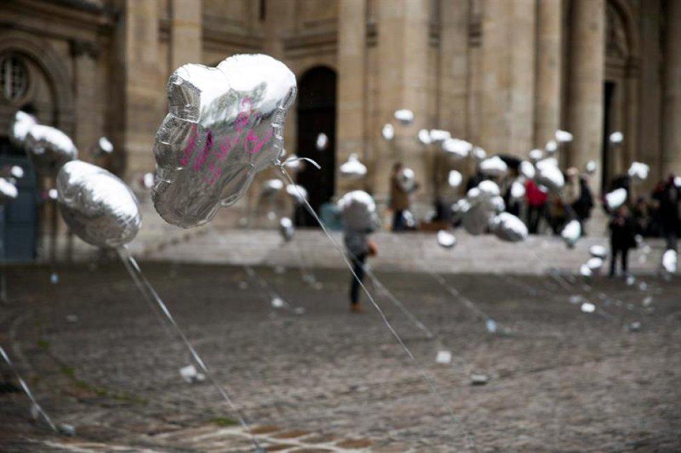 Imágenes de los actos en memoria de las víctimas organizados en Francia.