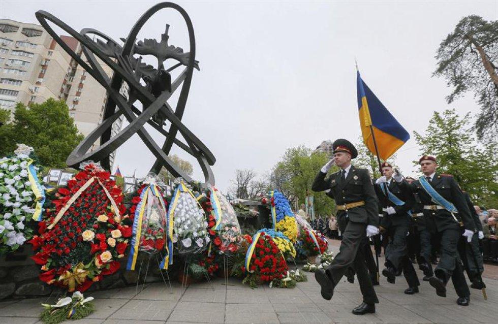 Ucrania recordó a sis víctimas