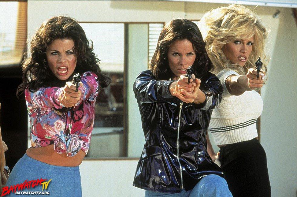 Traci Bingham, Alexandra Paul y Pamela Anderson.