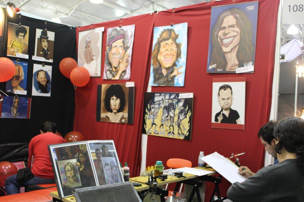 Las caricaturas de Mick Jagger, Steven Tyler junto con los personajes más representativos del rock, el cine y el entretenimiento mundial.
