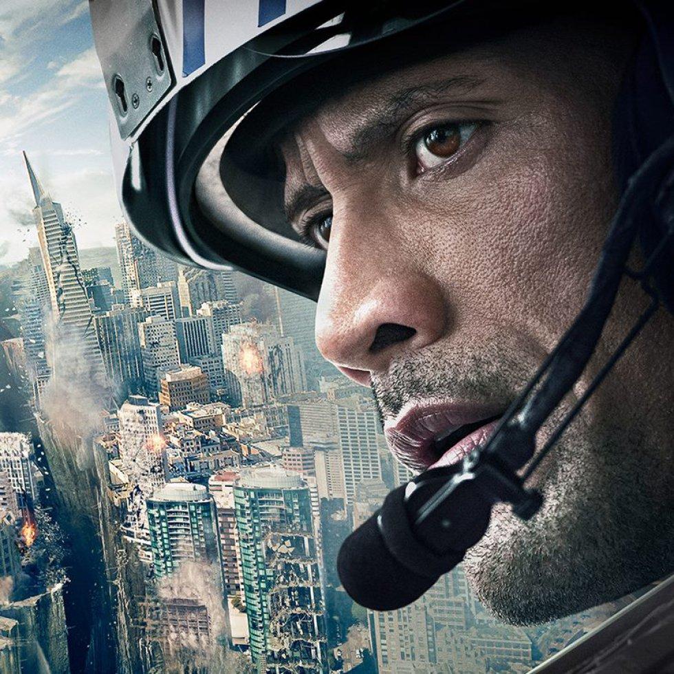 """San Andreas"" o ""Terremoto: la falla de San Andrés"". Johnson protagonizó esta película en el 2015."