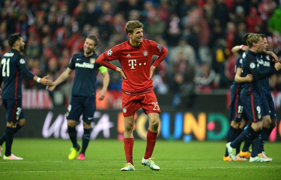 Thomas Müller al final del juego en el que el Bayern quedó por fuera de la final de Champions League.