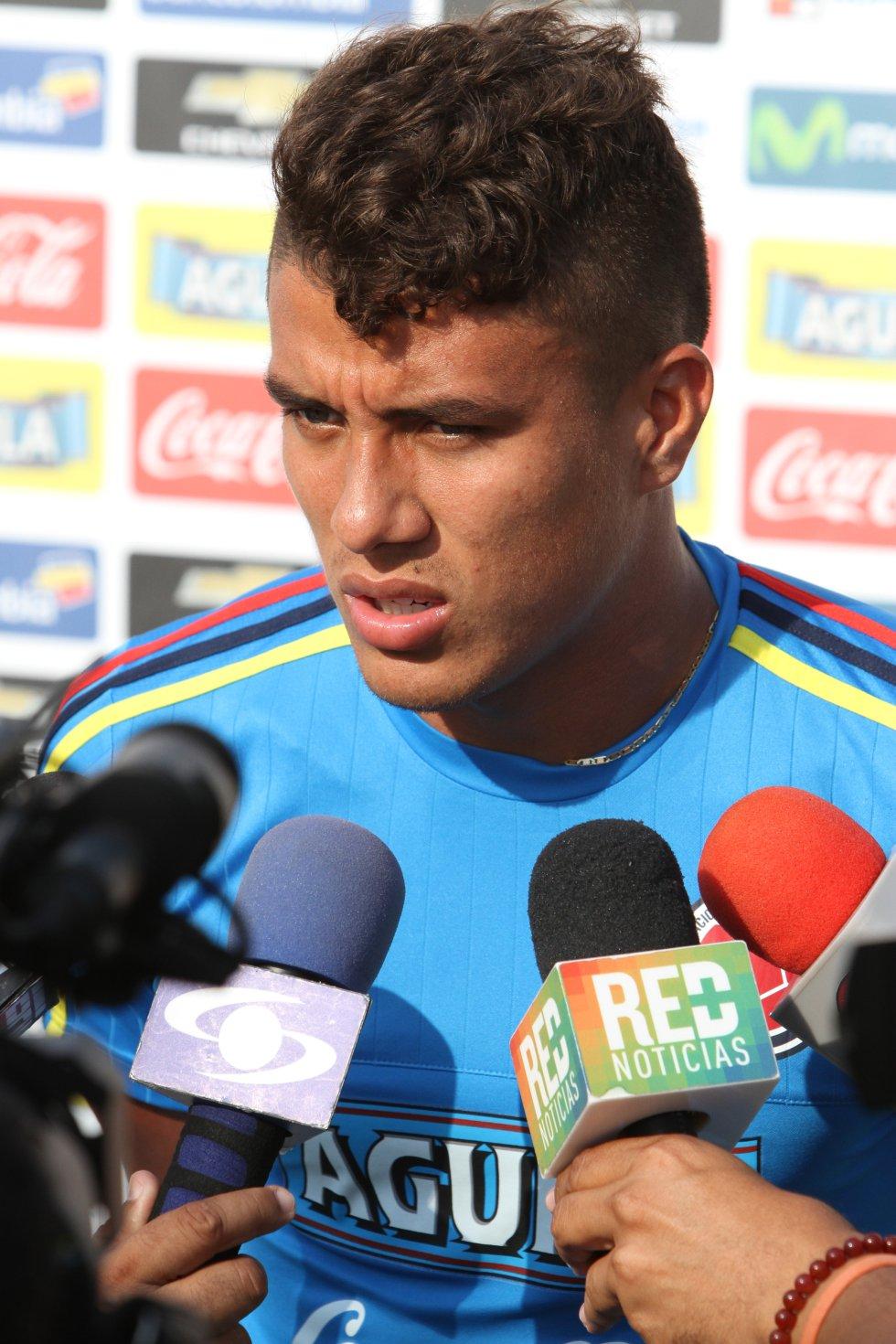 Andrés Felipe Roa, atlanticense de 22 años, centrocampista del Deportivo Cali, es uno de los mediocampistas preseleccionados para la Copa América.