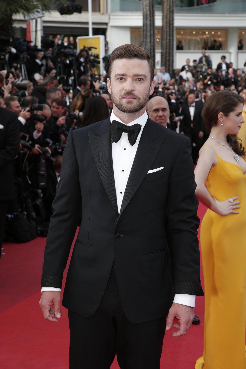 El actor Justin Timberlake en la alfombra roja del Festival
