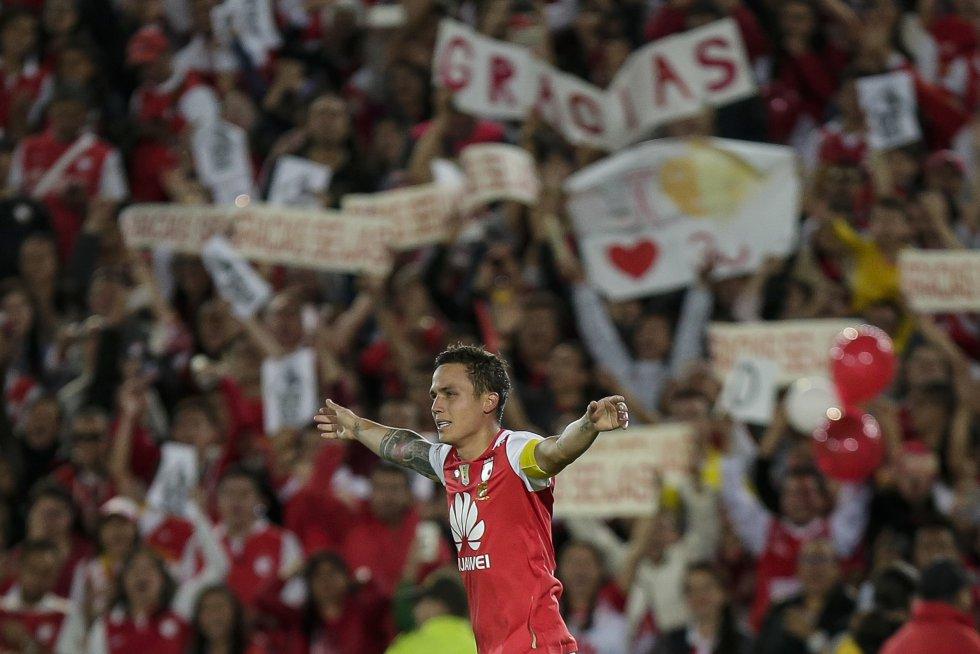 El jugador venezolano se despidió de la hinchada de Santa Fe y agradeció su paso el equipo bogotano.